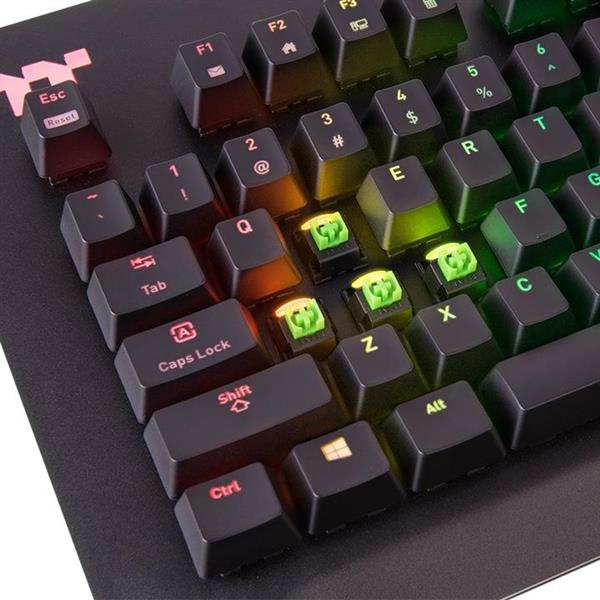 Level 20 RGB Razer Green Gaming Keyboard